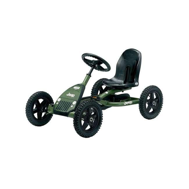 24.21.34.01 BERG Toys Jeep Junior Pedal Powered Adjustable Kid Go-Kart, Green