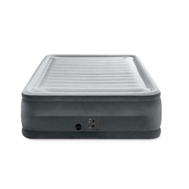 3 x 64417EP Intex High Rise Dura Beam Air Bed Mattress w/ Built-In Pump, Queen (3 Pack) 2
