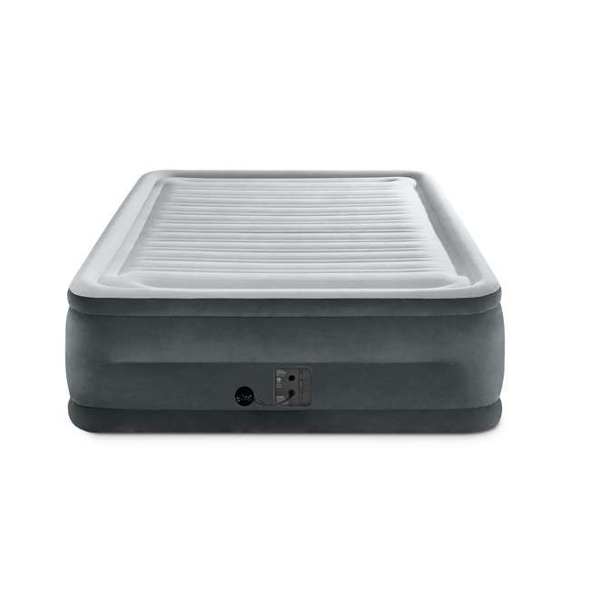 64417EP Intex Comfort High Rise Dura Beam Air Mattress w/ Built-In Pump, Queen (2 Pack) 2