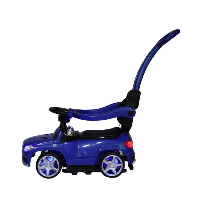 4 in 1 Mercedes Push Car White Best Ride On Cars Baby 4 in 1 Mercedes Push Vehicle, Stroller, & Rocker, Blue 4