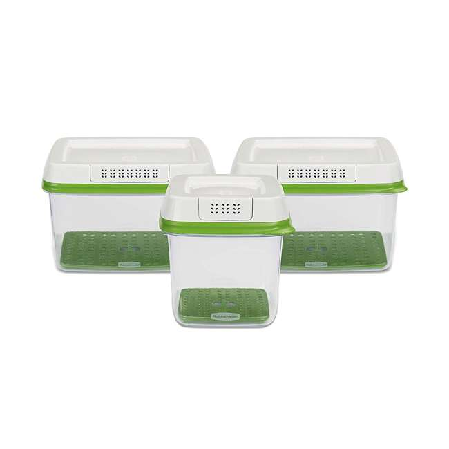 2016450 Rubbermaid FreshWorks Produce Saver 3 Piece Fresh Food Storage Container Se