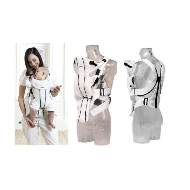 Synergy-WHITE + Sun-Cover BabyBjorn Baby Carrier Active - White, Mesh & Sun Cover 2