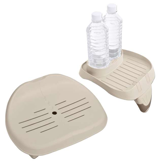 28502E + 28500E Intex Seat for Inflatable PureSpa Hot Tub + Cup Holder & Tray