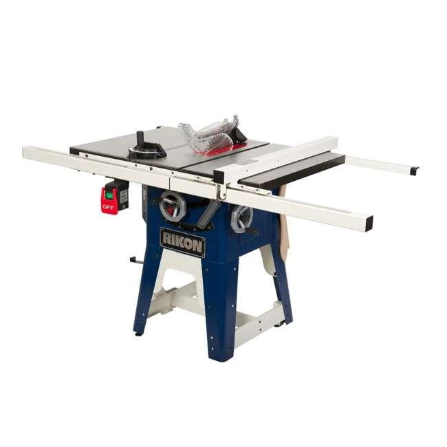 10-201 RIKON  Power Tools Cast Iron Contractors Left Tilt Table Saw, 10 Inch