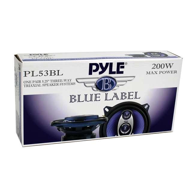 PL53BL Pyle PL53BL 5.25-Inch 200 Watt Car Audio Speakers (Pair) 5