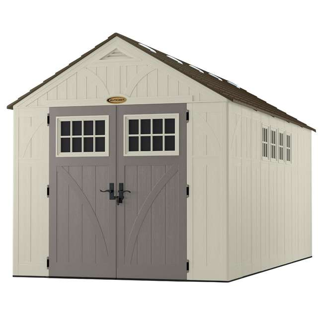 BMS8165 Suncast 883 Cubic Foot Tremont Outdoor Storage Shed