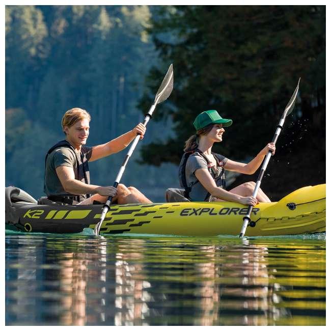 "69629E Intex 69629E 86"" Lightweight Aluminum Double Oar Inflatable Kayak Paddle, Black 2"