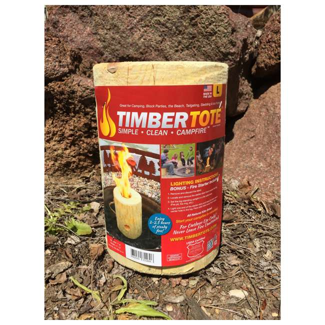 TBT-1002 TimberTote Large 12x8 Inch One Log Campfire Camping Cooking Camp Fire Wood Log 2