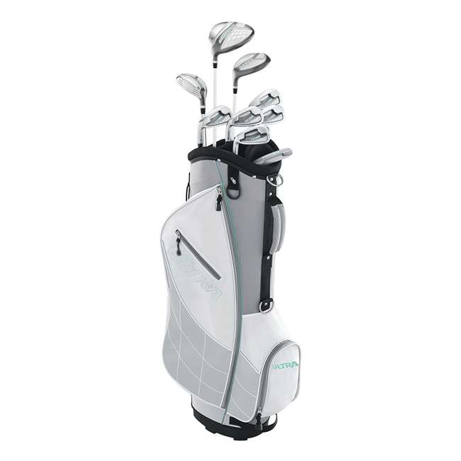 WGGC4330L + 2SKB-1649W Wilson Womens Left Handed Complete Golf Club Set & Wheeled Case 1