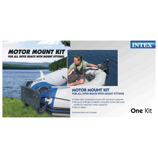 3 x 68624E Intex Boat Motor Mount Kit for Inflatable Boats | 68624E (Open Box) (3 Pack) 2