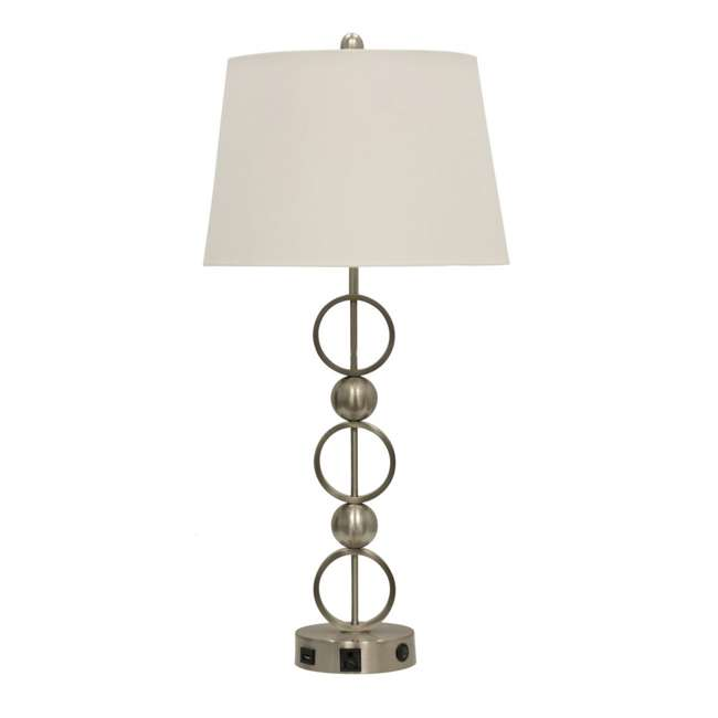 SC-L37591 Abode 84 Metal Table Lamp with Outlet, USB Port, and Base Switch