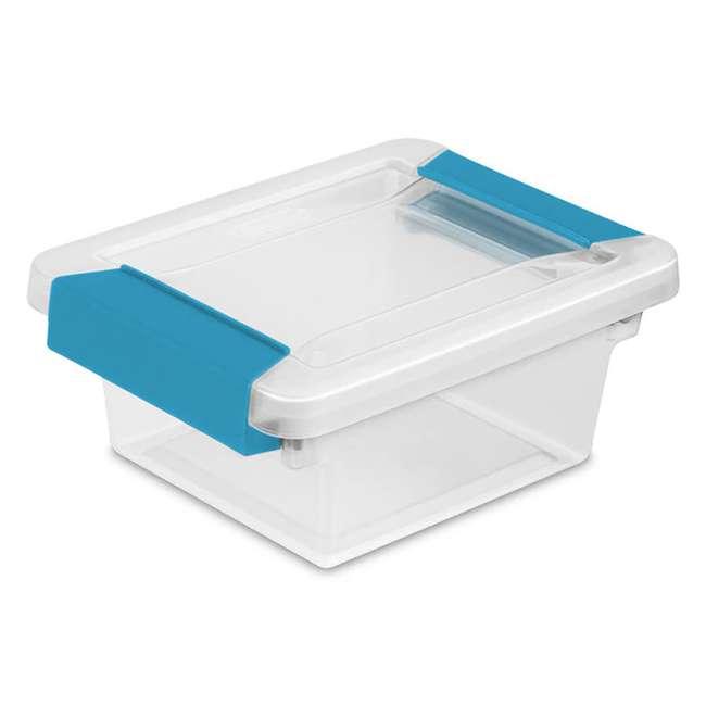 36 x 19698606 Sterilite Mini Clip Box Clear w/ Blue Aquarium Latches (36 Pack) 2