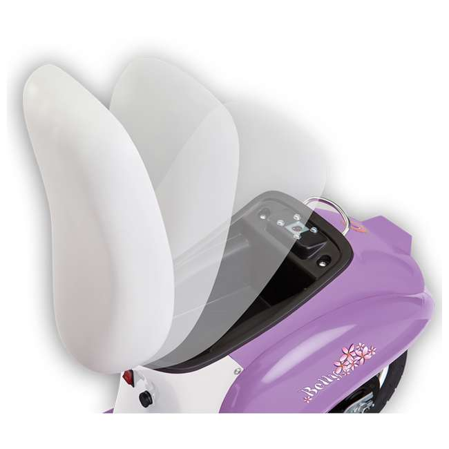 15130661 + 97783 + 96785 Razor Pocket Mod Betty Electric Scooter (Purple) with Helmet, Elbow & Knee Pads 3
