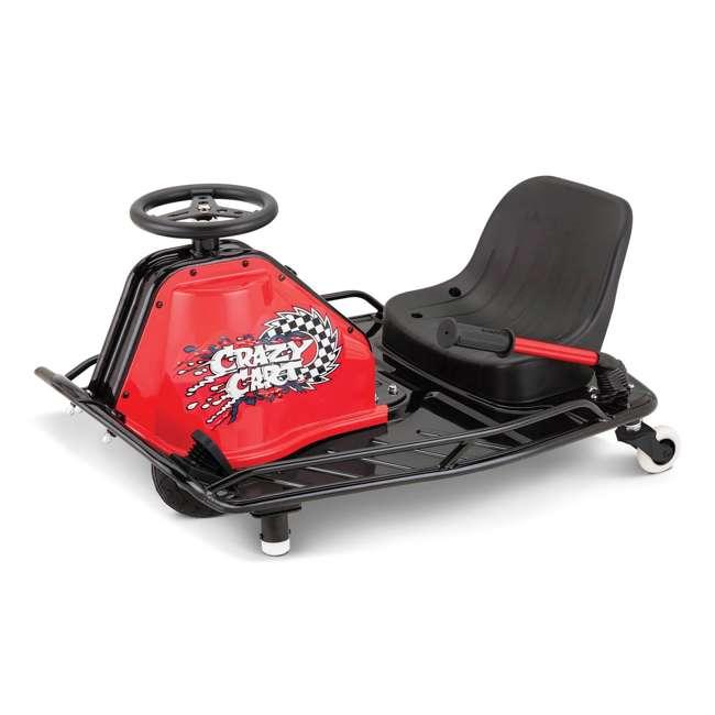 25143442 + 20143460 Razor High Torque Motorized Drifting Crazy Cart w/ Drift Bar, Blue/Red (2 Pack) 2