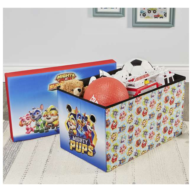 520023-005 Fresh Home Elements 24-Inch Portable Toy Chest and Storage Bench, Paw Patrol 5