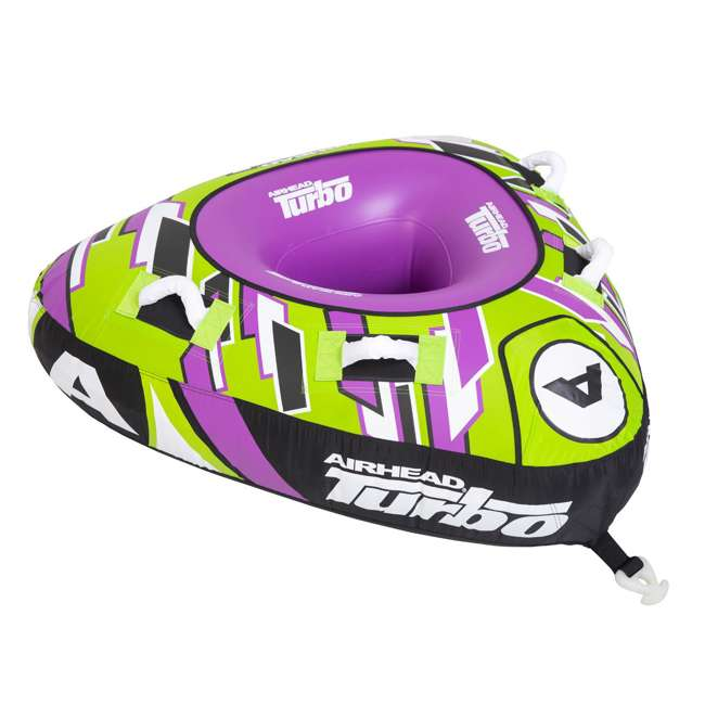 AHTB-11 Airhead Turbo Blast 56 Inch 1 Person Inflatable Boat Towable Water Inner Tube 1