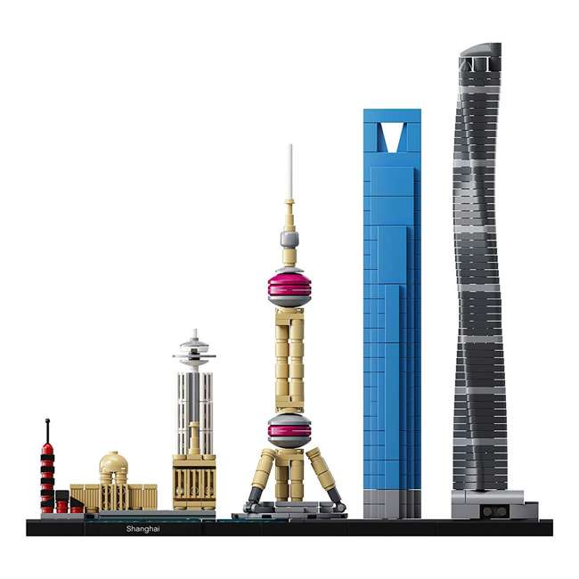 6213423 LEGO Architecture 597 Piece Shanghai Skyline Building Set for Kids 12 Years & Up