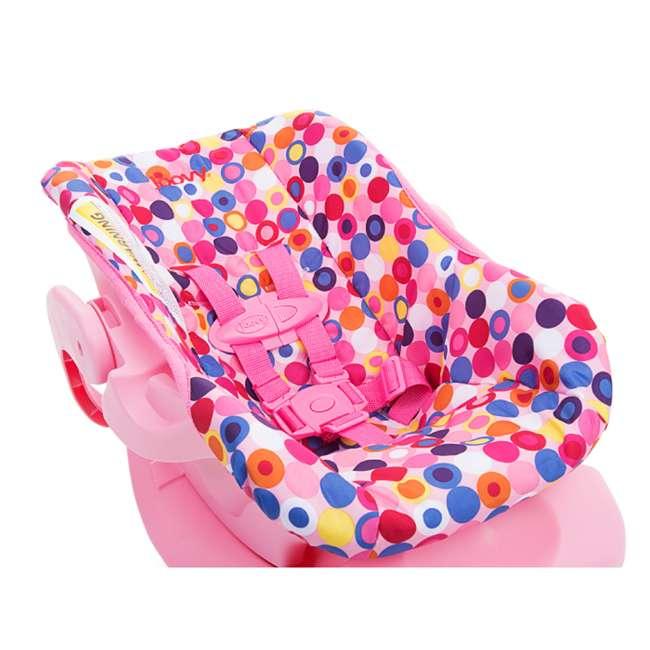 JVY-002 Joovy Toy Doll Pretend Play Children Car Seat, Pink Dot 3