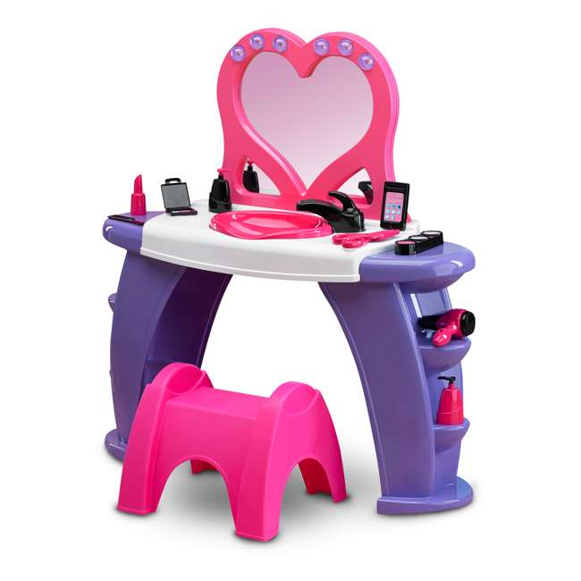 APT-25000 American Plastic Toys Kids Pink First Very Own Deluxe Beauty Salon Role Playset