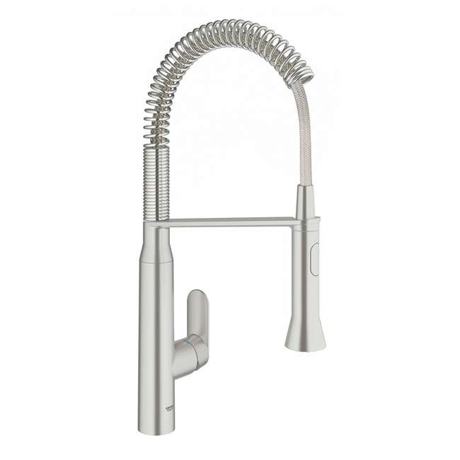 31380DC0-OB Grohe K7 Single Handle Spray Swivel Kitchen Faucet with Steel Finish (OPEN BOX)