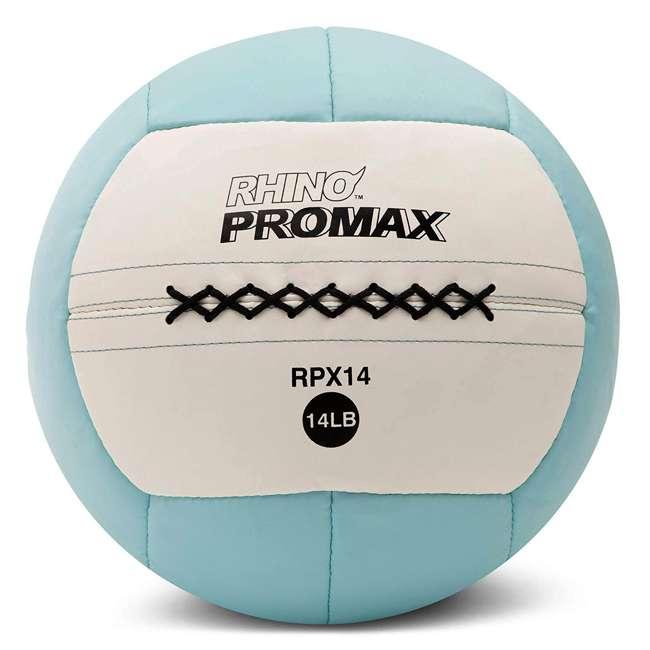 RPX14 Champion Sports Soft Shell Rhino Promax Slam Light Blue Medicine Ball, 14 Pounds
