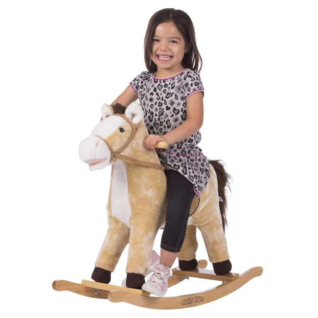 5-20401M-U-A Rockin' Rider Animated Toddler Toy Rocking Riding Sit On Plush Horse (Open Box) 3