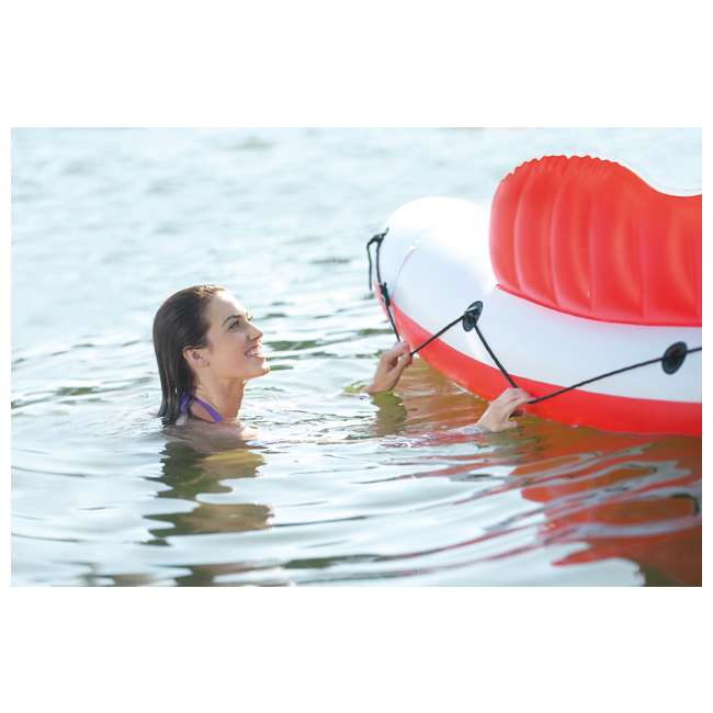 56296CA + 66639E Intex Inflatable Island Float Raft | Intex 120V Quick Fill AC Electric Air Pump 4