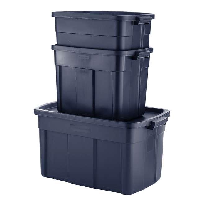 RMRT100015-6pack Rubbermaid Roughneck 10 Gallon Storage Tote, Dark Indigo Metallic (6 Pack) 2