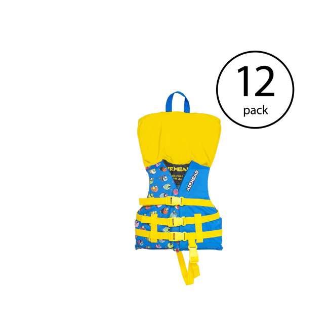 12 x 10086-02-A-BL Airhead Crayon Fish Child Life Vest, Blue (12 Pack)