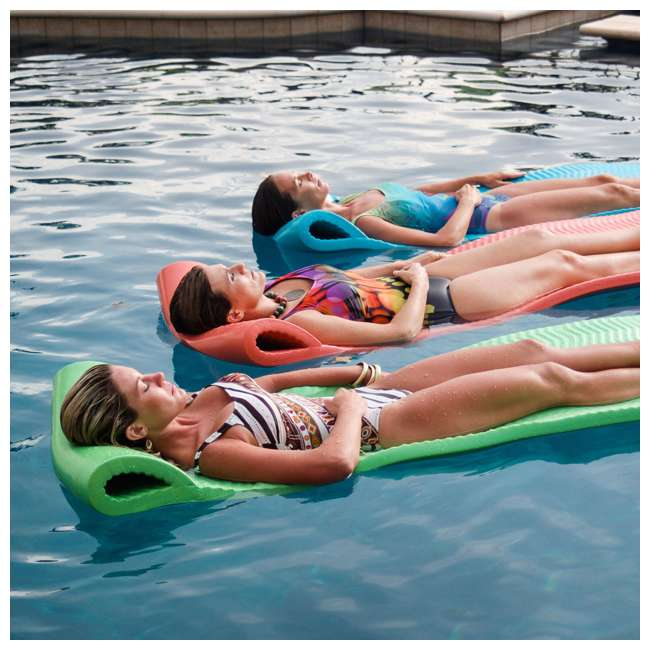 6 x 8070026 TRC Recreation Serenity Lounger Raft Pool Float, Bahama Blue (6 Pack) 3