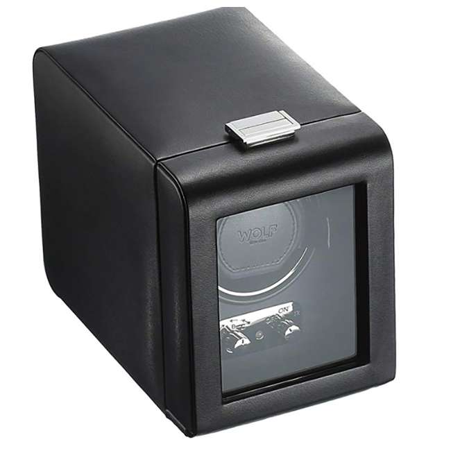 270002 WOLF 270002 Heritage Compact Electric Single Watch Winder with Cover, Black