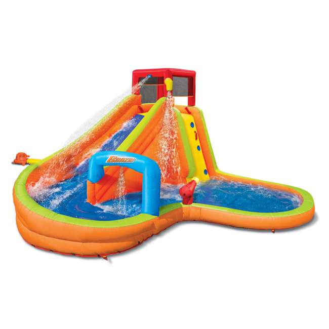 BAN-90354-U-A Banzai Kids Inflatable Outdoor Lazy River Adventure Water Park (Open Box)