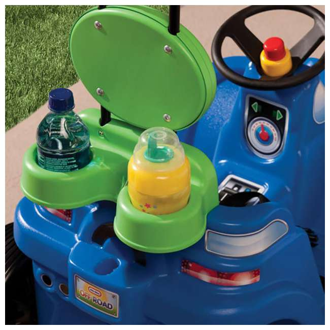 622069MP Little Tikes Deluxe 2 in 1 Cozy Roadster Toddler Kids Push Car Ride On Toy, Blue 6