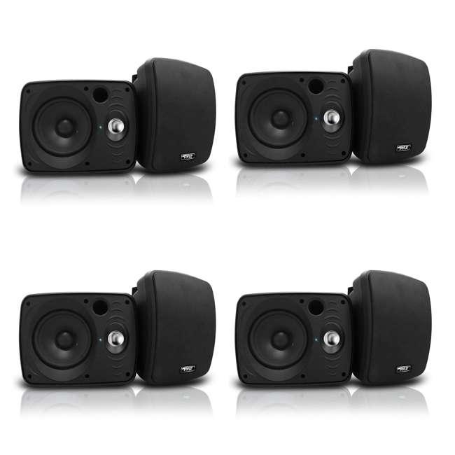4 x PDWR64BTB Pyle 6.5-Inch 800 Watt Bluetooth Indoor & Outdoor Speaker System (8 Pack)