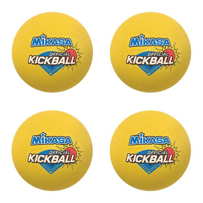4 x DP850 Mikasa USA 8.5-Inch Official Kickball, Yellow (4 Pack)