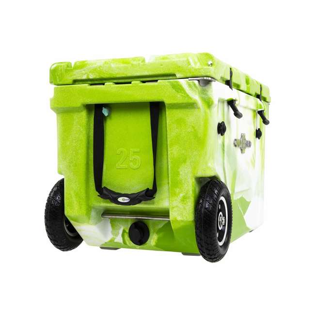 HC50-17GW WYLD HC50-17GW 50 Qt. Dual Compartment Insulated Cooler w/ Wheels, Green/White 1