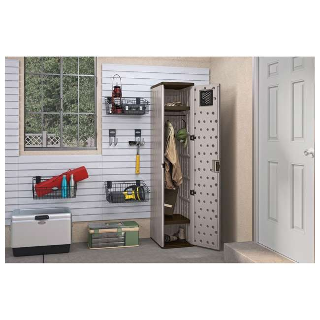 BMC5800 Suncast Tall Easy Assembly Garage Cabinet Storage Locker with Vent (2 Pack) 2