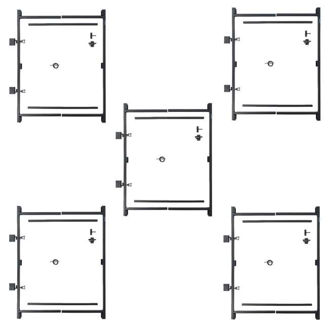 """5 x AG36-3 Adjust-A-Gate Steel Frame Gate Kit, 36""""-60"""" Wide Opening Up To 7' High (5 Pack)"""