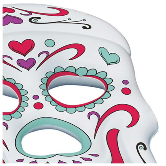 90555-U-A Swimline Giant Inflatable 62-Inch Sugar Skull Pool Island Raft (Open Box) 1