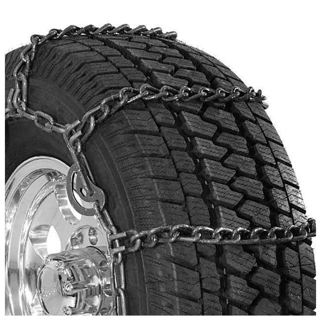 QG3229CAM Security Chain Quik Grip Wide Base CAM SUV/Truck Tire Twist Snow Chain (2 Pack)