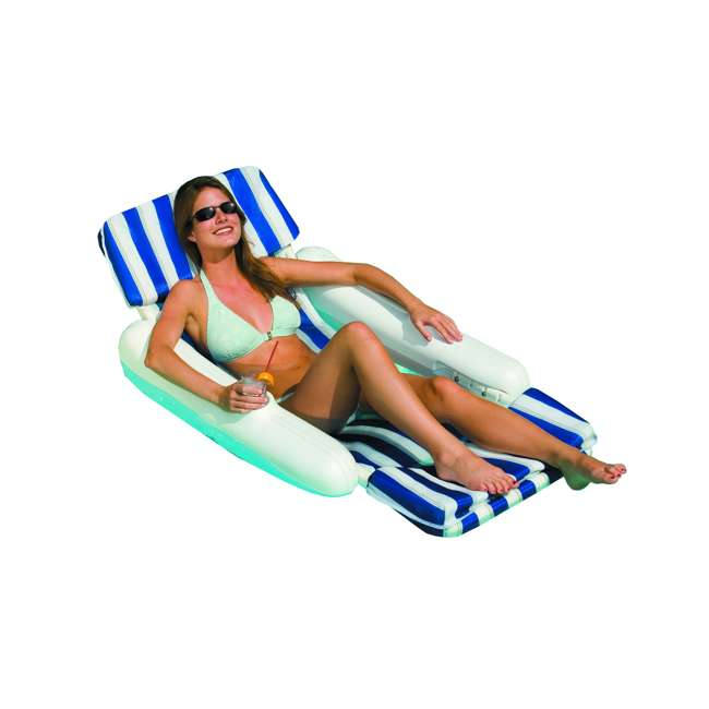 10010M-U-A Swimline 10010 SunChaser Swimming Pool Padded Chair Lounger (Open Box) (2 Pack) 1