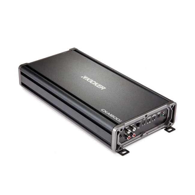 46CXA18001 Kicker CX1800.1 1800 Watt Mono Car Amplifier, Black  2