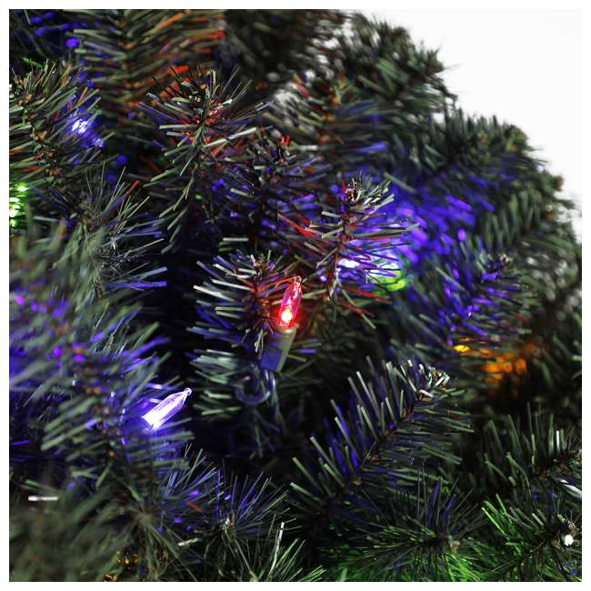 GD6000CYKD00 Home Heritage 72 Inch Holiday Christmas Wreath X1500 Tip w/ 400 Color LED Lights 1