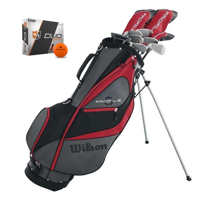 WGGC5800L + WGWP40800 Wilson Profile XD Men's Left Handed Golf Club Package Set & Balls