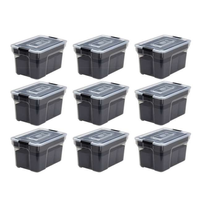 9 x FBA32238 Ezy Storage 5 Liter Sort It Storage Container with 2 Removable Trays (9 Pack)