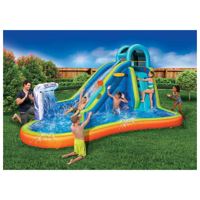 BAN-99522 Banzai Deluxe 2 in 1 Water Park and Bounce House Combo Pack  4