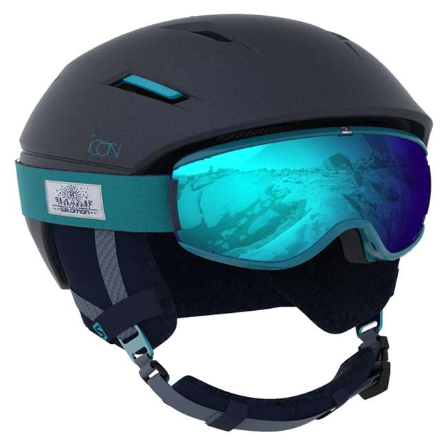 6 x L39913300 - M Salomon Icon2 C.Air Womens Ski Helmet Medium, Blue (6 Pack) 3