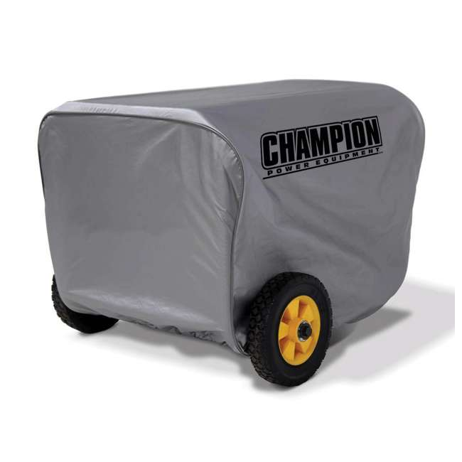 CPE-AC-C90011 Champion Power Vinyl Portable 2800 to 4750 Watt Power Generator Cover, Gray