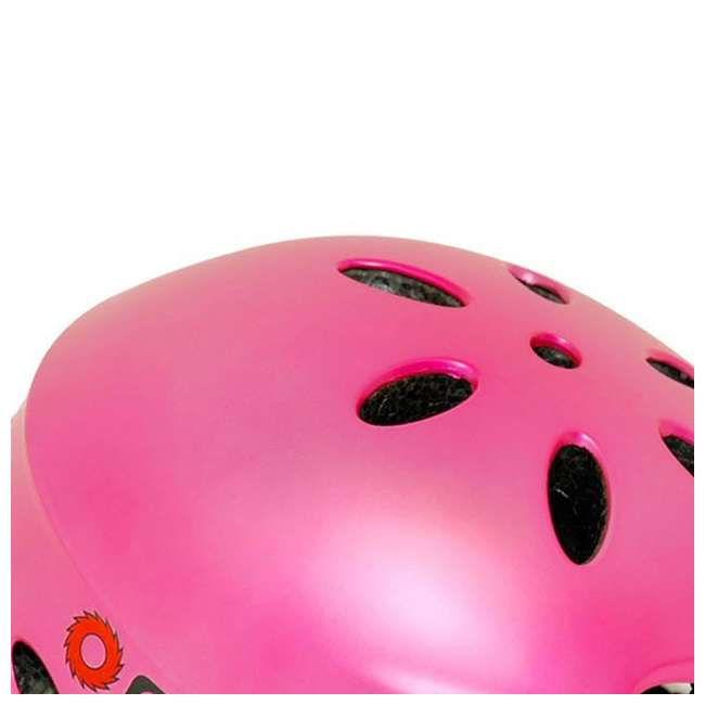 15130659 + 97783 + 96761 Razor Electric Retro Kids Scooter, Pink w/ Youth Sport Helmet, Elbow & Knee Pads 7