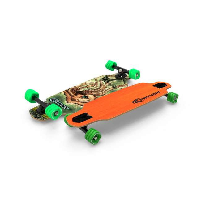 T8-3066 + 08149-SHARK Triple 8 Skate and Bike X-Small/Small Helmet, Neon Tangerine + Fathom Shark Wheel Skateboard 6